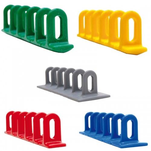 Barrettes anneaux plastique