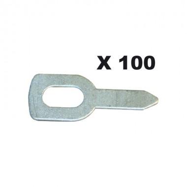 100 anneaux de tirage droits