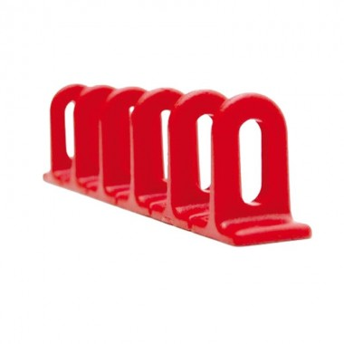 Barettes anneaux plastique 6x22