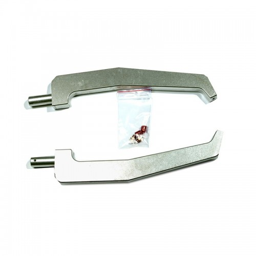 2 bras X4 aluminium déportés - LG 440 mm avec 2 caps