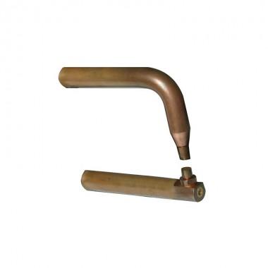 2 bras X6 cuivre - lg 220 mm avec caps type A