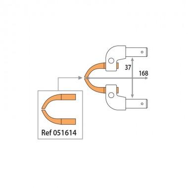 2 bras aluminium X11 - accès difficile