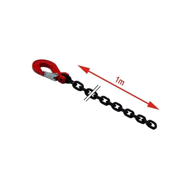 Chaîne de traction avec crochet sécurisé 1m à 2,5m
