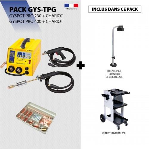 Pack GYSPOT PRO 230V + Chariot